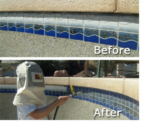 Pool Tile Cleaning
